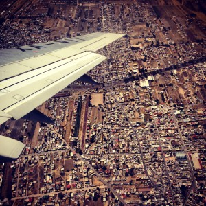 Flying over Mexico City